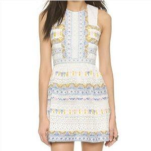 BCBG Dress with Crochet & Pastel Aztec Detail